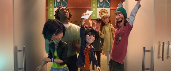 Big Hero 6 Hiro and friends
